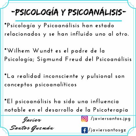 Psicología y Psicoanálisis