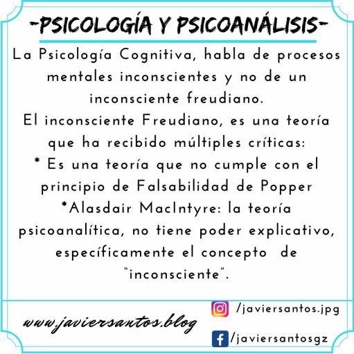 PSICOLOGÍA Y PSICOANÁLISIS PT.2 INCONSCIENTE